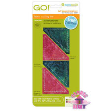 "55257- New Accuquilt GO! Big Baby Fabric Cutter Half Square Triangle 2 1/2"" Die"