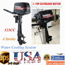 4Stroke 6.5 HP Outboard Motor 123CC Boat Engine Short Shaft Water Cooling System
