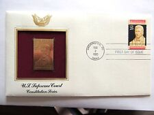 "Feb. 2nd, 1990 Constitution Series ""U.S. Supreme Court"" 1st Day Gold Stamp Issue"
