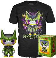 Metallic Perfect Cell  DBZ Funko Pop Vinyl + T-Shirt New in Sealed Box