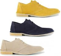 Ikon FRANKLIN Mens Smart Casual Office Suede Leather Lace Up Desert Derby Shoes