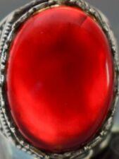 Agate Yemen silver Ring-Yemeni kabdi agate aqeeq aqiq Silver Men Ring