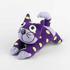 Handmade Green Dot Purple Sock Monkey Cheshire Cat Stuffed Animals Toy