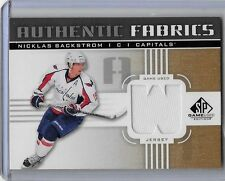 NICKLAS BACKSTROM 2011-12 SP GAME USED AUTHENTIC FABRIC GAME USED JERSEY