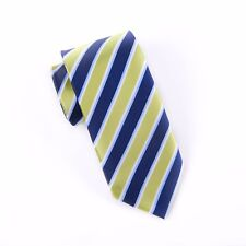 Green & Navy Boss Formal Business Striped 3 Inch Tie Mens Professional Fashion