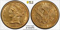 1895 $5 Liberty Gold Half Eagle Liberty Head AU-58 PCGS Grade Sparkler