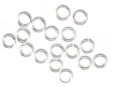 100 Silver Plated Open Jump Rings 6MM 18 Gauge