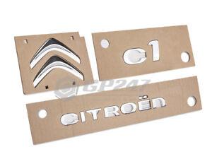 3 x Nuovo Originale Emblema Logo Stemma Posteriore CITROEN C1
