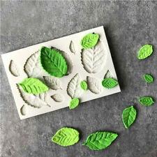 3D Silicone Leaves Fondant Mould Baking Sugarcraft Candy Cake Decorating Mold
