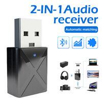 2IN1 USB Wireless Bluetooth5.0 Adattatore Ricevitore Trasmettitore Audio TV