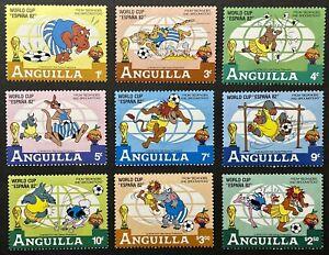 ANGUILLA DISNEY WORLD CUP SOCCER ESPANA '82 STAMPS SET MNH WILD ANIMALS CARTOON