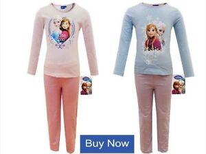 Filles Pyjama Set Haut à manches longues Bas Pantalon fantaisie 100/% Coton Âge 2-13 Ans