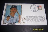 1985 New York Yankees DON MATTINGLY Breaks RBI Record Roger MARIS Silk Cover