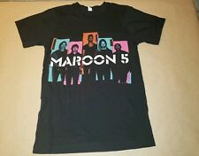 Womens Maroon 5 North America Tour 2014 Band Shirt Size Small T-shirt black
