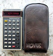 NOVUS US Natl. Semiconductor Red LED Electronic Calculator (#4510) + Case (VGUC)