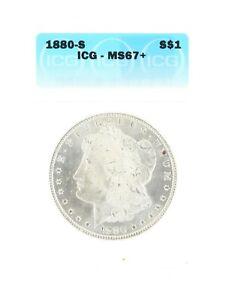 1880-S Silver Morgan Dollar ICG MS67+ S$1 San Francisco Minted Silver Coin