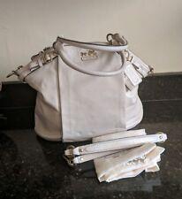 COACH Madison White Leather Lindsey Shoulder Bag Large Satchel (18641)