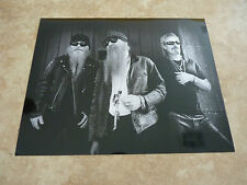 Zz Top Metallic Luster Finish B&W 8x10 Photo