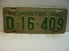 1949 Washington License Plate   D - 16 - 409              Vintage  as5161