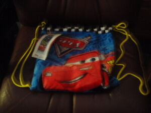 Disney Cars Friends to Finish Cotton Beach Towel & Cinch Tote Bag Set McQueen