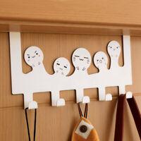 Cartoon Over-The-Door Hook Rack 5 Hooks Hanger Storage Holder Coat Hat hooks USA