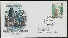 England Salutes America 200th Ann. Independence Making Liberty Bell - London Fdc