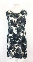 Masai Clothing Floral Botanical Print Smock Tunic Dress Size XL Lagenlook Casual