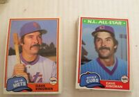 1981 Topps NY Mets  Dave Kingman #450 Traded & Regular  Lot Of 31 Ex+ - NM Mint