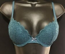 Hollister Gilly Hicks Push Up Plunge Bra Teal (34C)