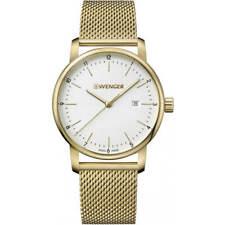 Wenger Men's Watch Urban Classic Quartz Yellow Gold Mesh Bracelet 01.1741.112