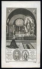 santino incisione 1800 MADONNA DELLA MEDAGLIA MIRACOLOSA