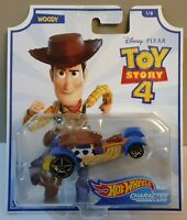 HOT WHEELS 2019 DISNEY PIXAR TOY STORY 4 CHARACTER CARS WOODY 1/8 GCY53