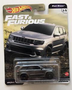 2021 HOT WHEELS Fast And Furious - Jeep Grand Cherokee Trackhawk (Grey F9) New