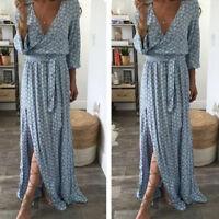 Women Summer Boho Long Maxi Dress Evening Cocktail Party Beach Sundress New#