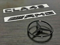 Gloss Black CLA45 AMG and Rear Star replacement PACKAGE Badge Sticker C117