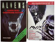 Alien Vs. Predator Hardcover + Aliens Omnibus Paperback | Movie Tie-In Lot | Vg