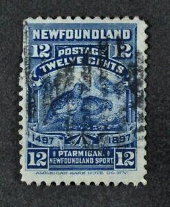 NEWFOUNDLAND, QV, 1897, 12c. deep blue value, SG 74, used condition, Cat £12.