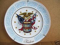 """1974 Avon Freedom 9"""" Plate By Enoch Wedgwood England"""