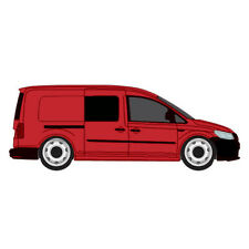 2 x Vw Caddy MAXI Fixed Privacy Tinted Side Window's