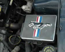 1998-2004 Mustang Polished SS Fuse Box Cover w/ Tribar & Running Horse Emblem