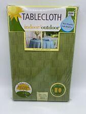 Umbrella Indoor/Outdoor Tablecloth Green Fern Oblong 60 X 84 with Zipper New