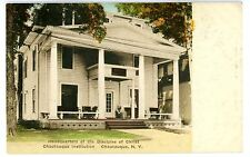 Chautauqua NY -HEADQUARTERS-DISCIPLES OF CHRIST-CHAUTAUQUA INSTITUTION- Postcard