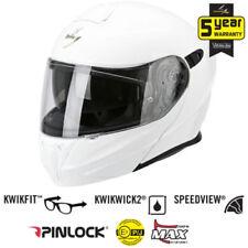 Caschi bianchi per la guida di veicoli moto sgancio rapido fissaggio