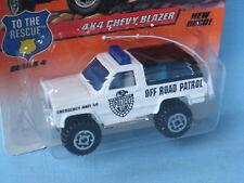 Matchbox Chevy Blazer Police White and Black Road Patrol Toy Model Car 75mm BP