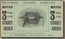 Y7418 Moyeu STURMEY-ARCHER - Pubblicità d'epoca - 1909 Old advertising