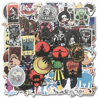 100 Vinyl Anime One Piece Stickers Bomb Skateboard Laptop Luggage Decal Lot Cool
