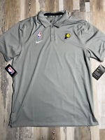New Men's Indiana Pacers Nike On Court Coaches Golf Polo Shirt Sz MEDIUM NWT $75
