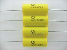 6 Pcs -1uF (105) @ 100 VOLTS  Metallized Polyester Film Capacitor Audio / Guitar