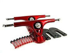 "Paris 180mm V2 Longboard Trucks Red + Paris 1/4"" Riser Pad + 1.5"" Hardware"