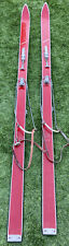 """New listing Vintage Antique Sears Olympia Wood Skis 74"""" Made in Austria Gipron Bindings"""